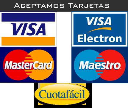 Tarjetas de crédito que aceptamos!